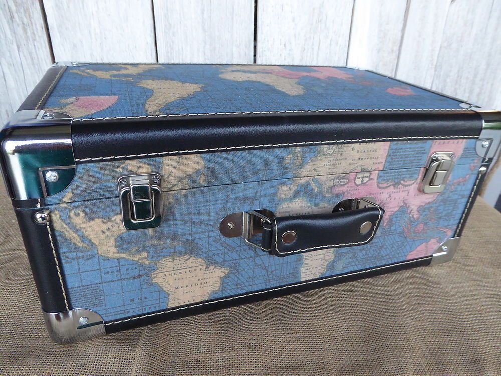 World map travel themed decorative box trunk wedding party home world map travel themed decorative box trunk wedding party home decor gumiabroncs Image collections