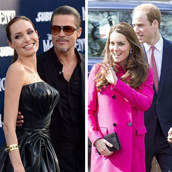 Angelina Jolie et Brad Pitt rencontrent le Prince William et Kate Middleton | HollywoodPQ.com