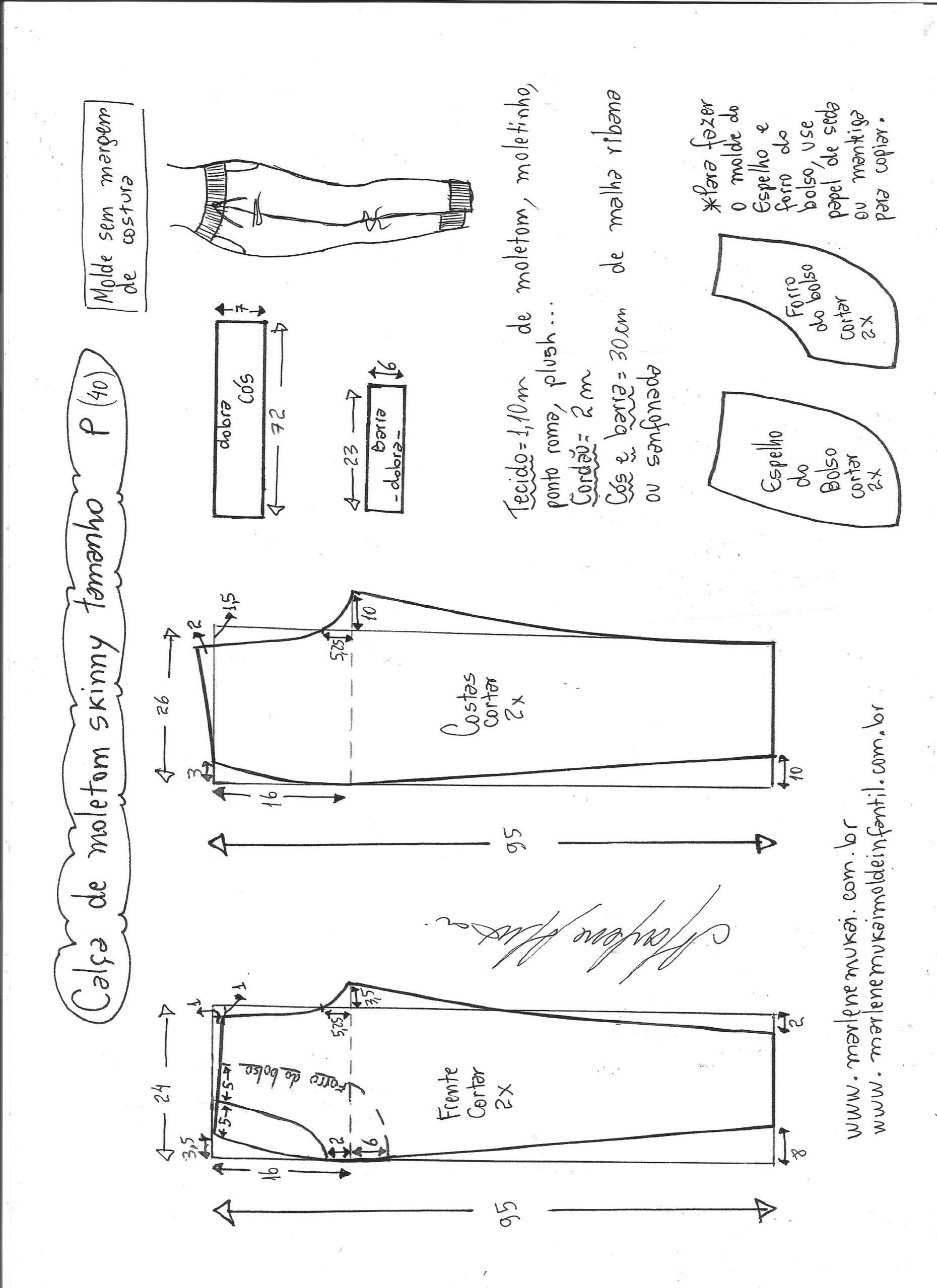 Calça de moletom skinny | Costura | Pinterest | Costura, Pantalones ...
