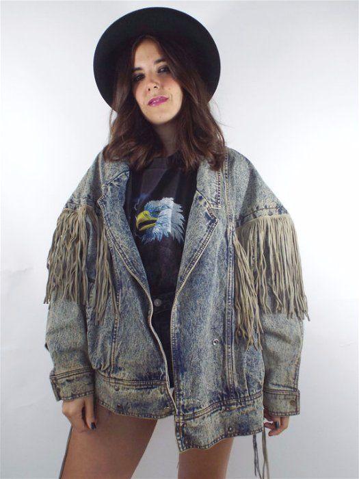 80s fringe jacket
