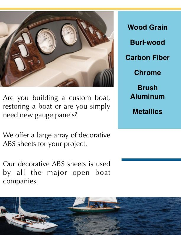 Looking to replace your boat instrument panel? Our decorative