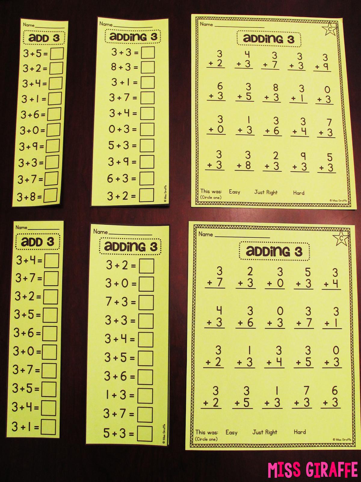 Fact Fluency In First Grade Sandy Pinterest Math School And