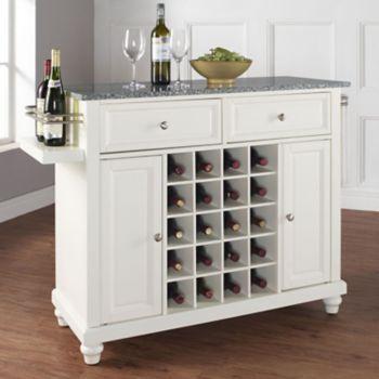 Crosley Furniture Cambridge Granite Wine Console Table Wine Storage Kitchen Granite Tops Kitchen Island With Granite Top