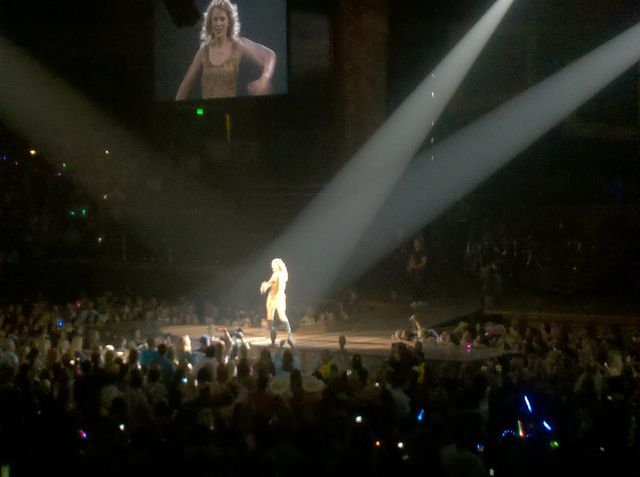 Taylor Swift in Concert In Nashville Tennessee.    September 17,2011.