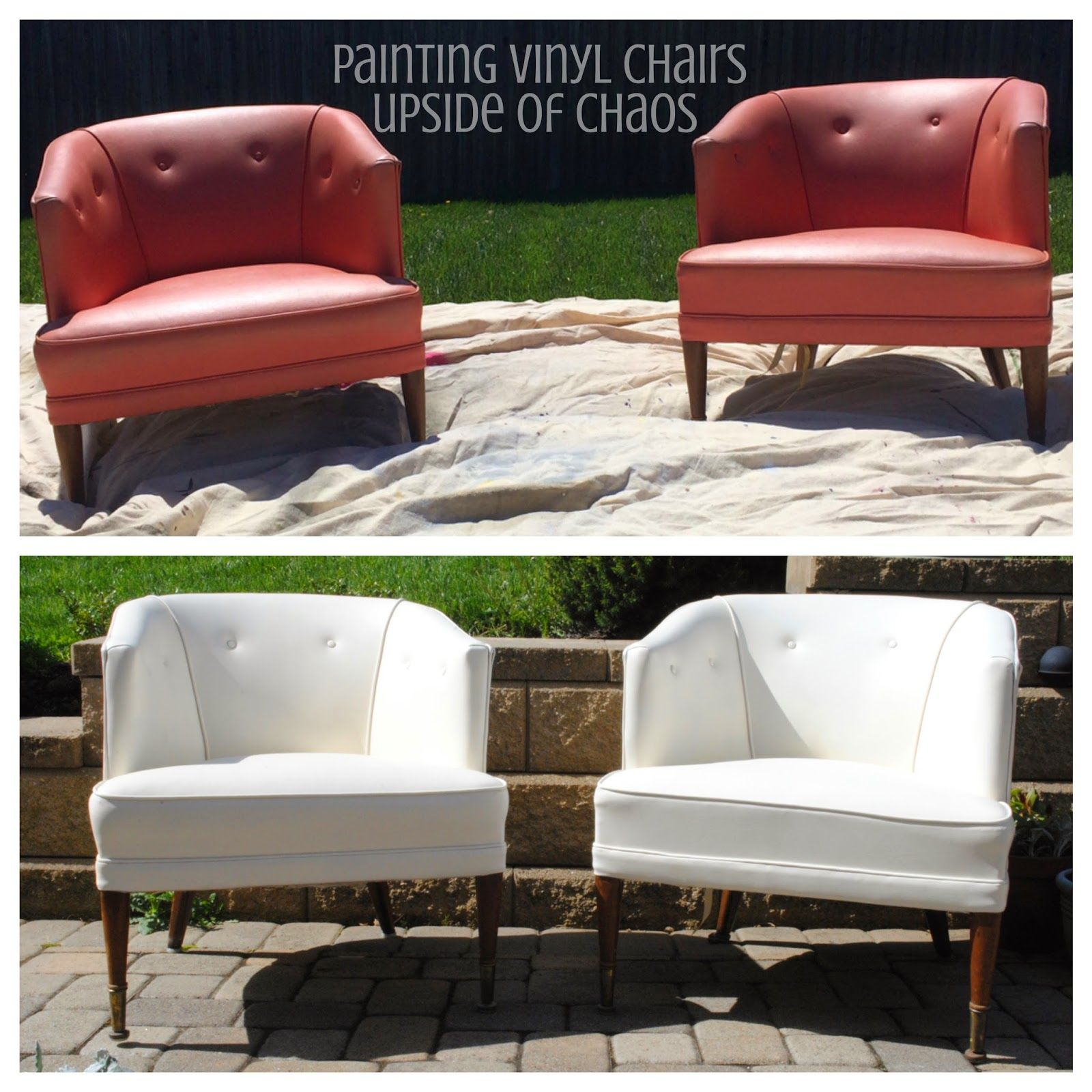 Painting Vinyl Chairs Vinyl Chairs Vinyl Chairs Makeover Furniture