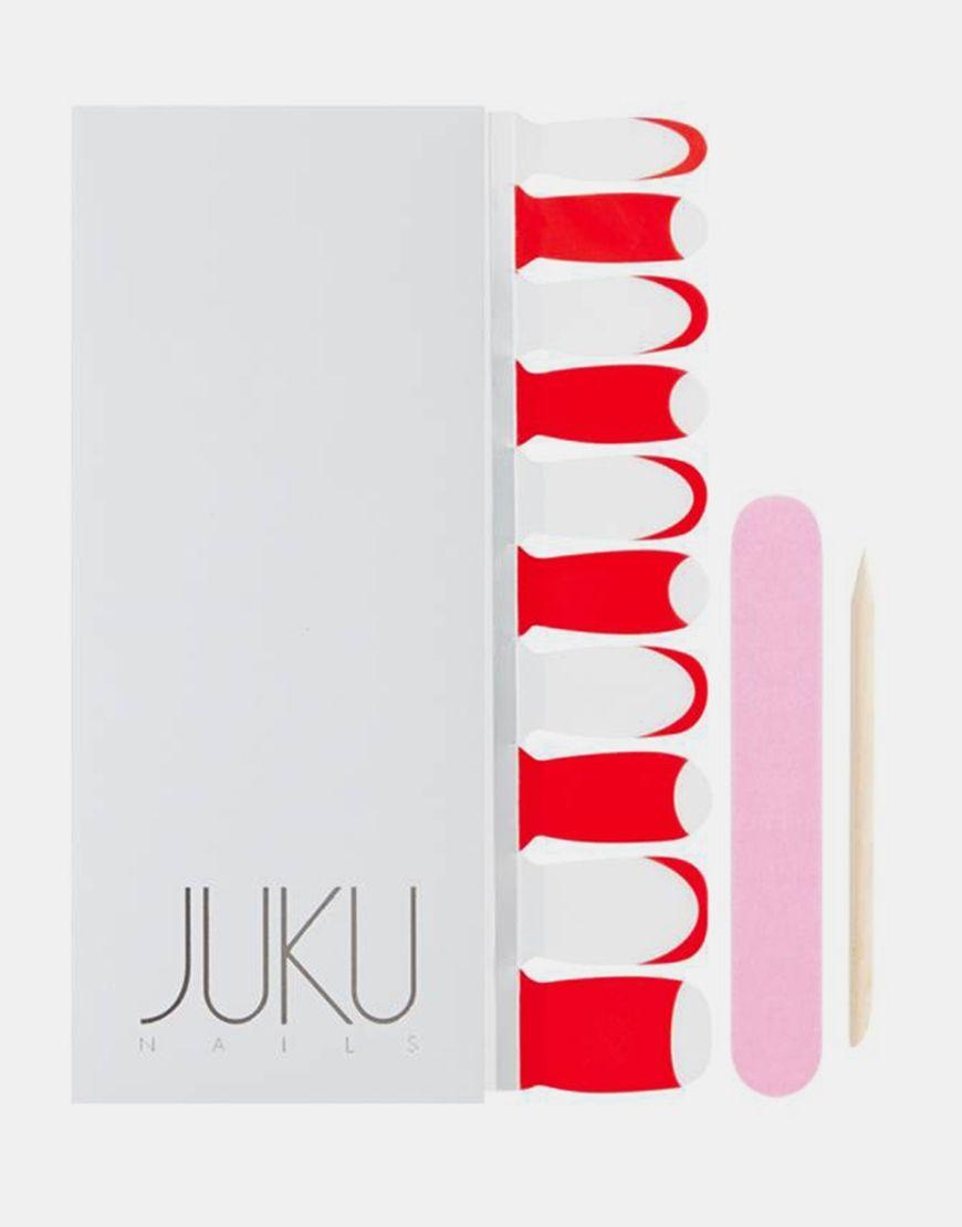 Transparente Nagelaufkleber mit Überkopf-Design von Juku Nails ...