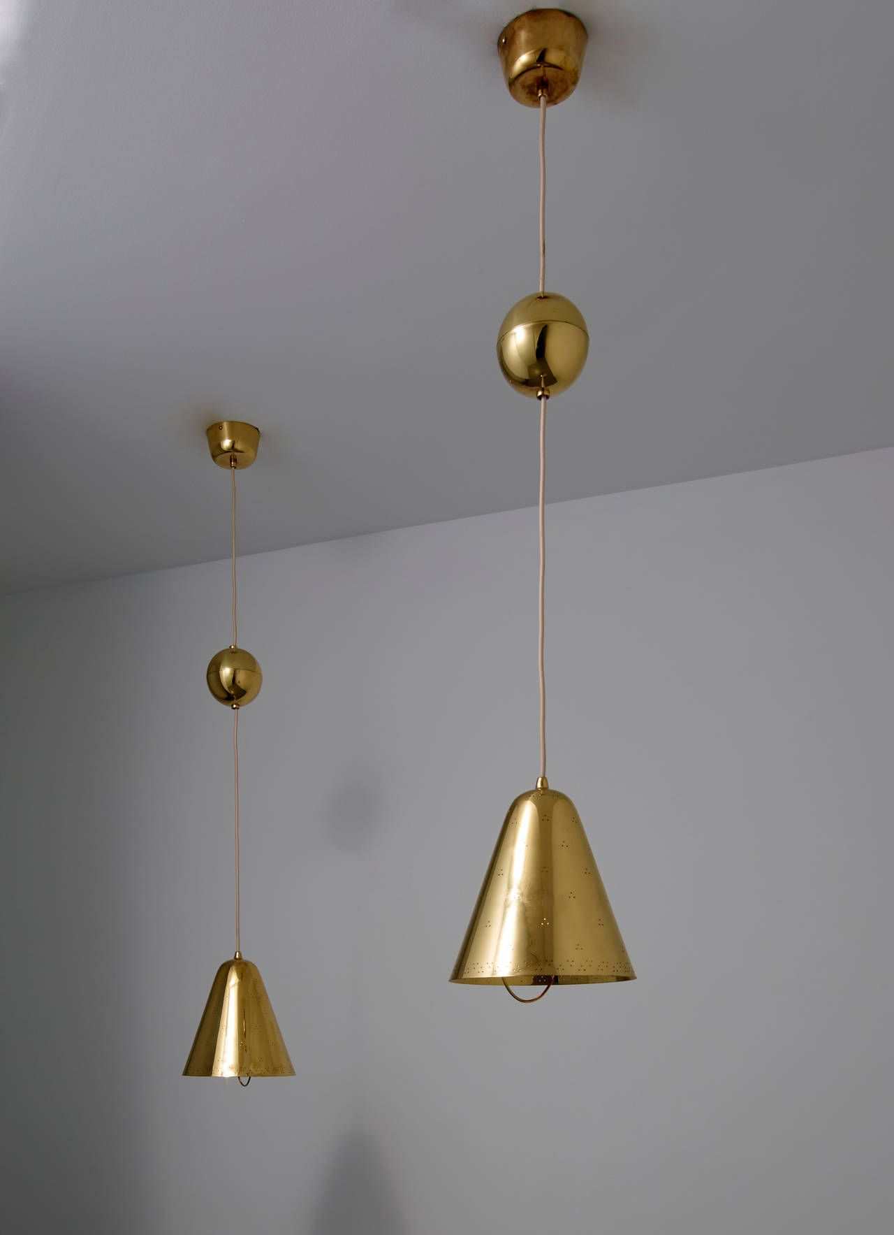 adjustable pendant lighting. Paavo Tynell, Pair Of Adjustable Pendant Lights With 11\ Lighting