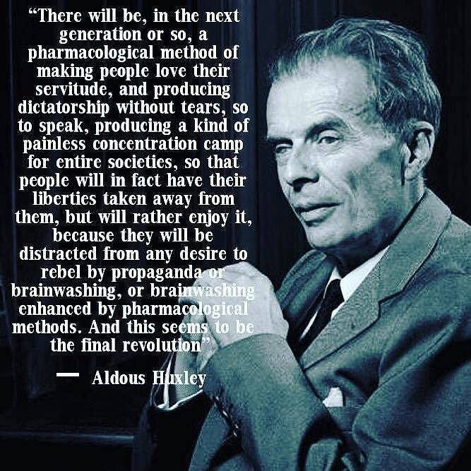 There will be, in the next generation or so, a pharmacological method of making people love their servitude, and producing dictatorship without tears, so to speak, producing a kind of painless concentration camp for entire societies, so that people will i