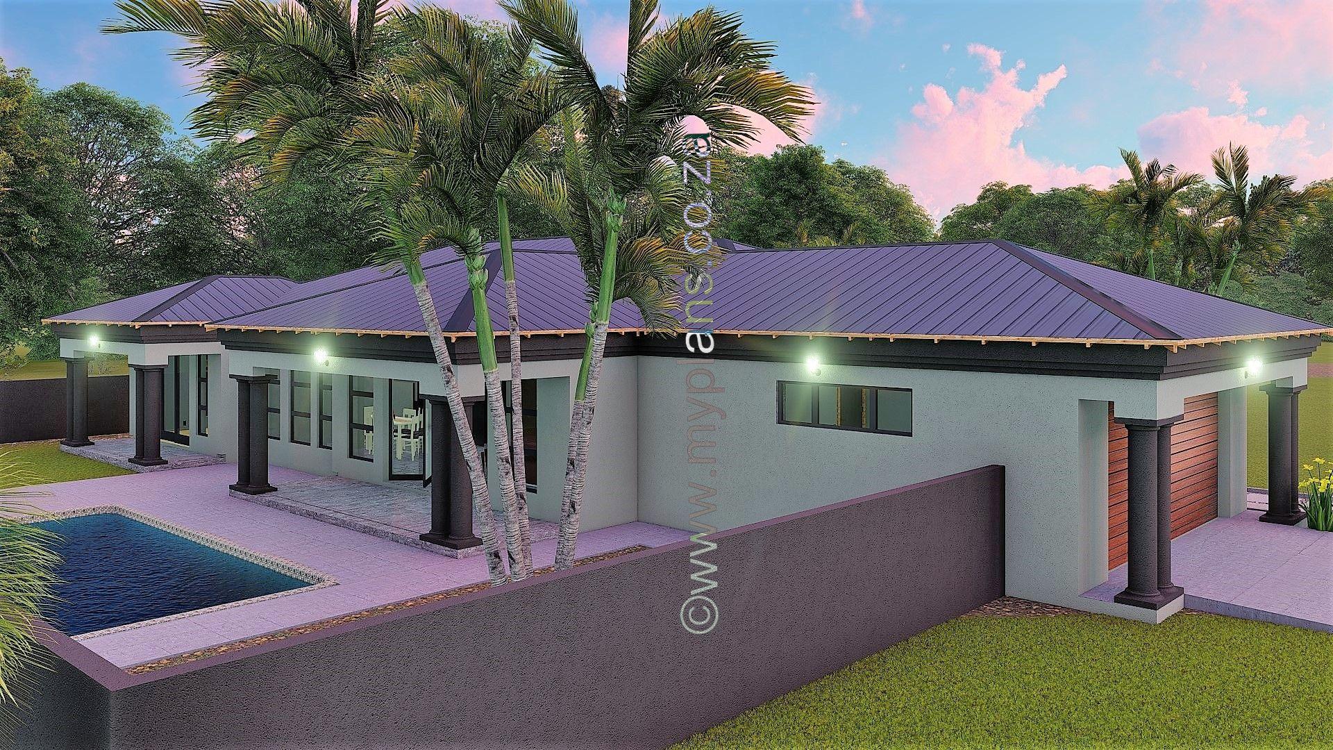 3 Bedroom House Plan Bla 074s My Building Plans South Africa House Plans South Africa Bedroom House Plans Bungalow House Design