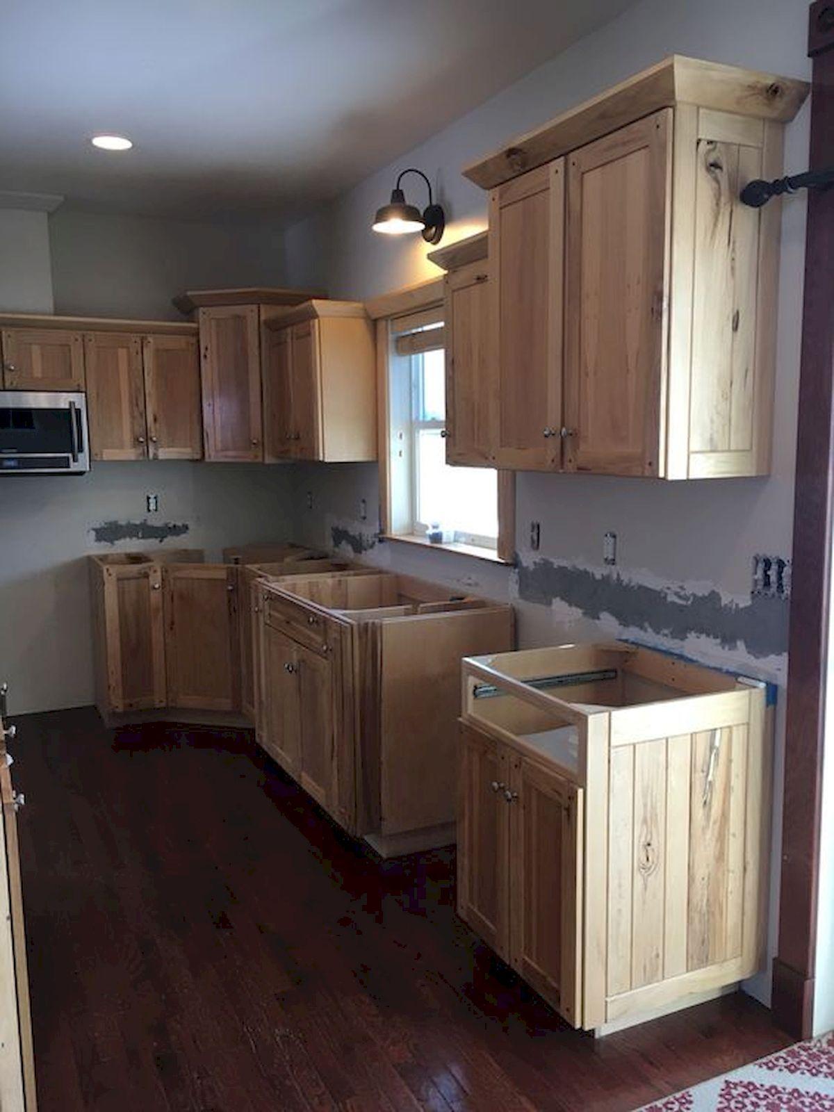 50 Amazing Diy Pallet Kitchen Cabinets Design Ideas Hickory Kitchen Cabinets Simple Kitchen Design Pallet Kitchen Cabinets