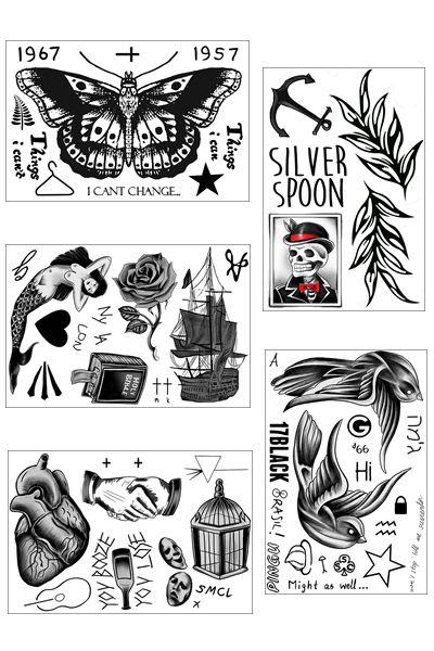 Harry Styles Temporary Tattoo Bundle Of Temporary Tattoos border=