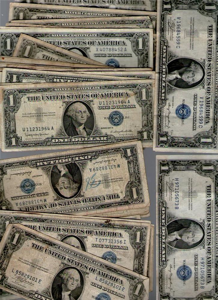 1935a H 1957 A B Possible 18 Blue Seal 1 Silver Certificates