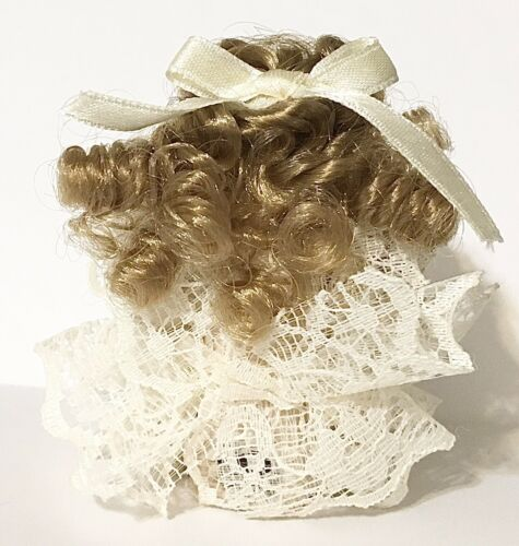 Zombie Cheerleader Hairstyles: Miniature Sitting Solid Porcelain Doll With Ringlets Hair