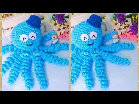 Paso a paso crochet: Cómo tejer tierno pulpo para bebé fácil y ...