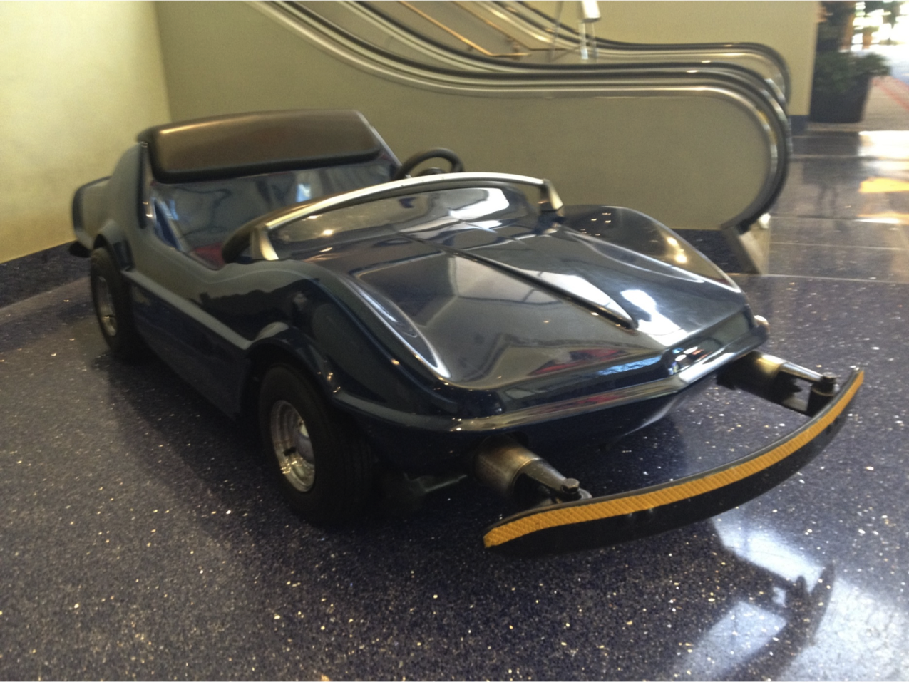 Car on Display at Disneyland Hotel | Vintage Autopia Car Ride ...