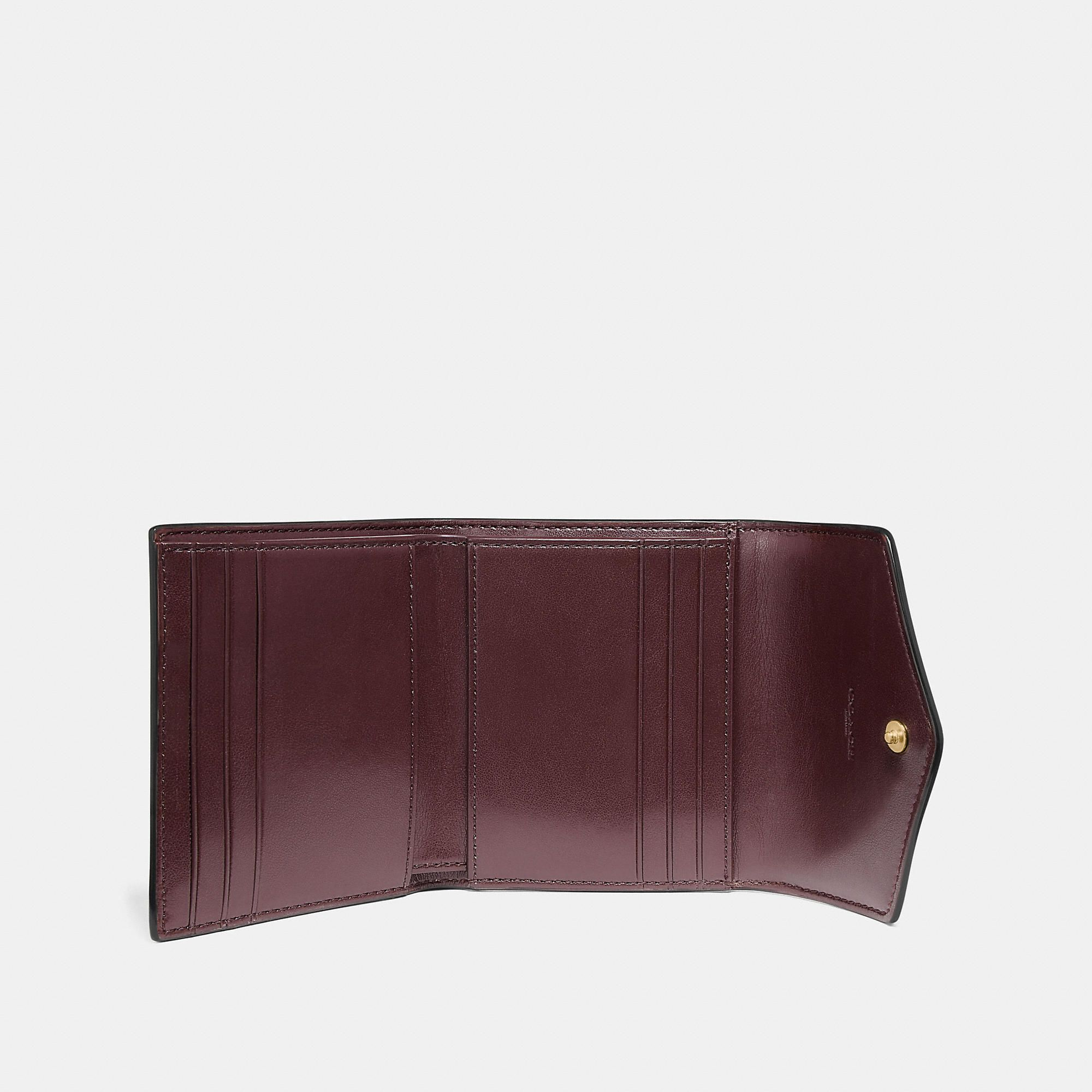 84f37295a0 Small Wallet In Colorblock Signature Canvas | Products | Wallet ...