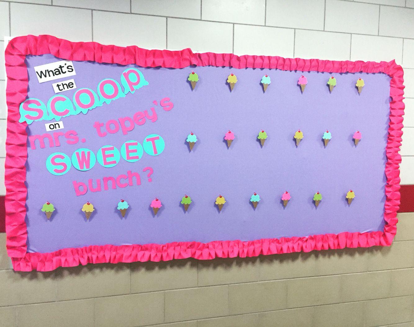 Sweet shop bulletin board
