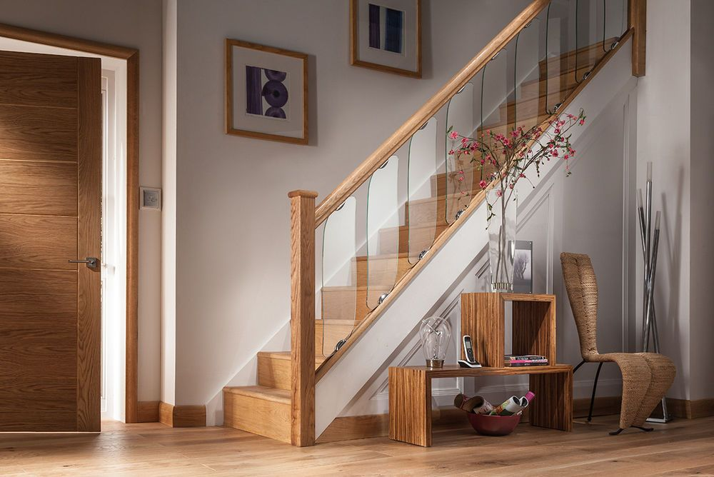 Best Details About Axxys Clearview Glass Chrome And Oak Stair 400 x 300