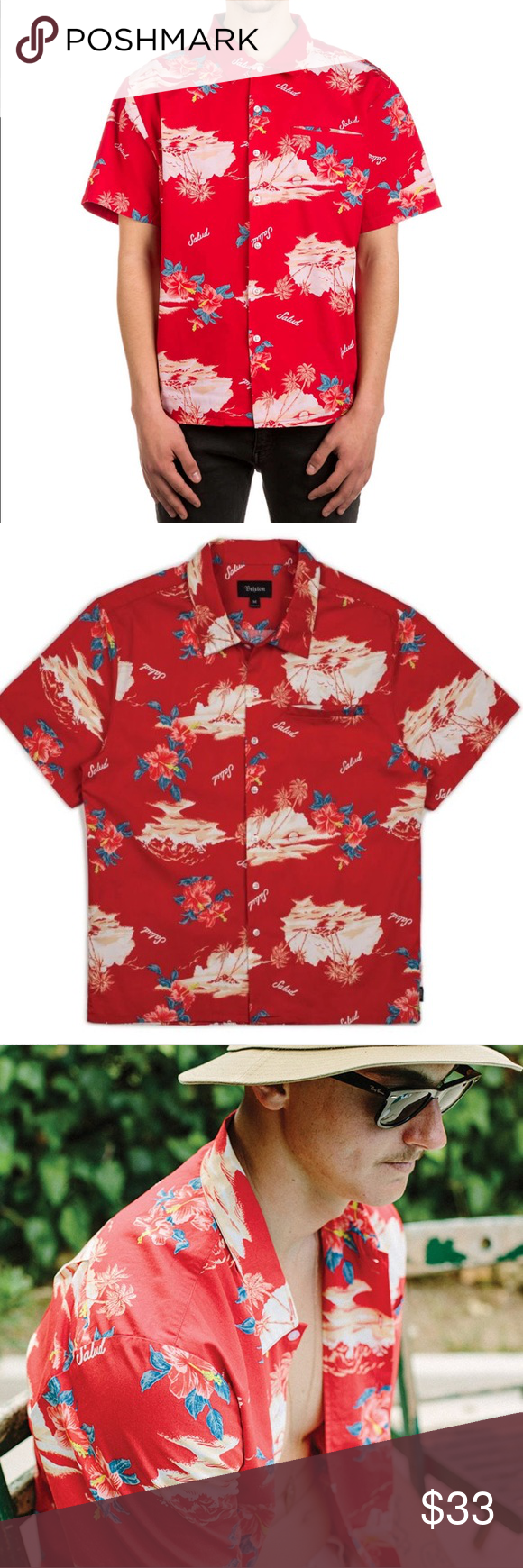 46c16fad1f BRIXTON MENS BUELLER SHIRT • SIZE M • BNWT Still in packaging. Size medium.  Perfect aloha Hawaiian party shirt Brixton Shirts Casual Button Down Shirts