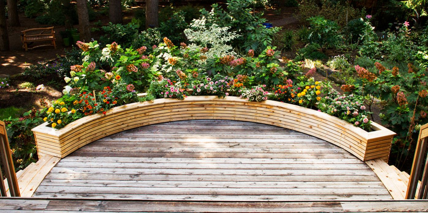 Curved Planter Boxes How To Make Wooden Planter Boxes Waterproof