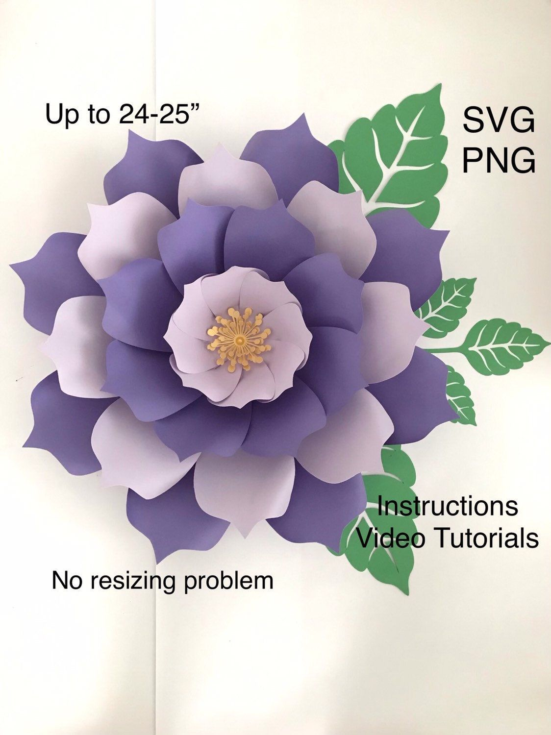 3d Paper Flowers Template Svg Png For Wall Decor Flower Svg Files