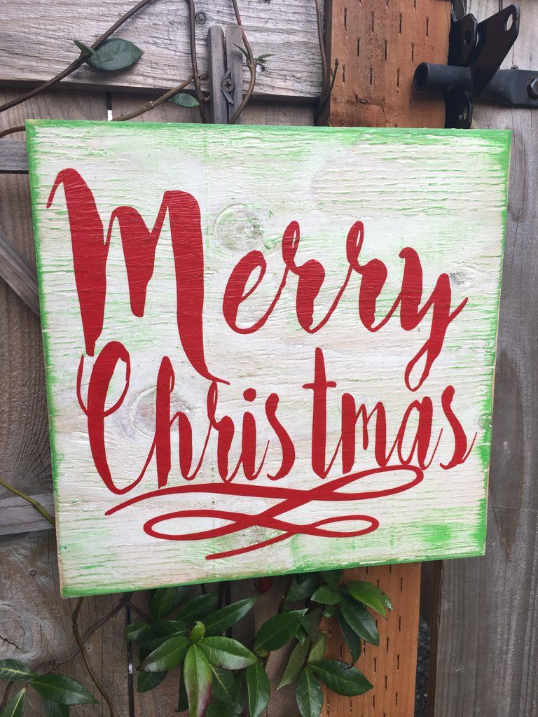 merry christmas wood sign - Merry Christmas Wooden Sign