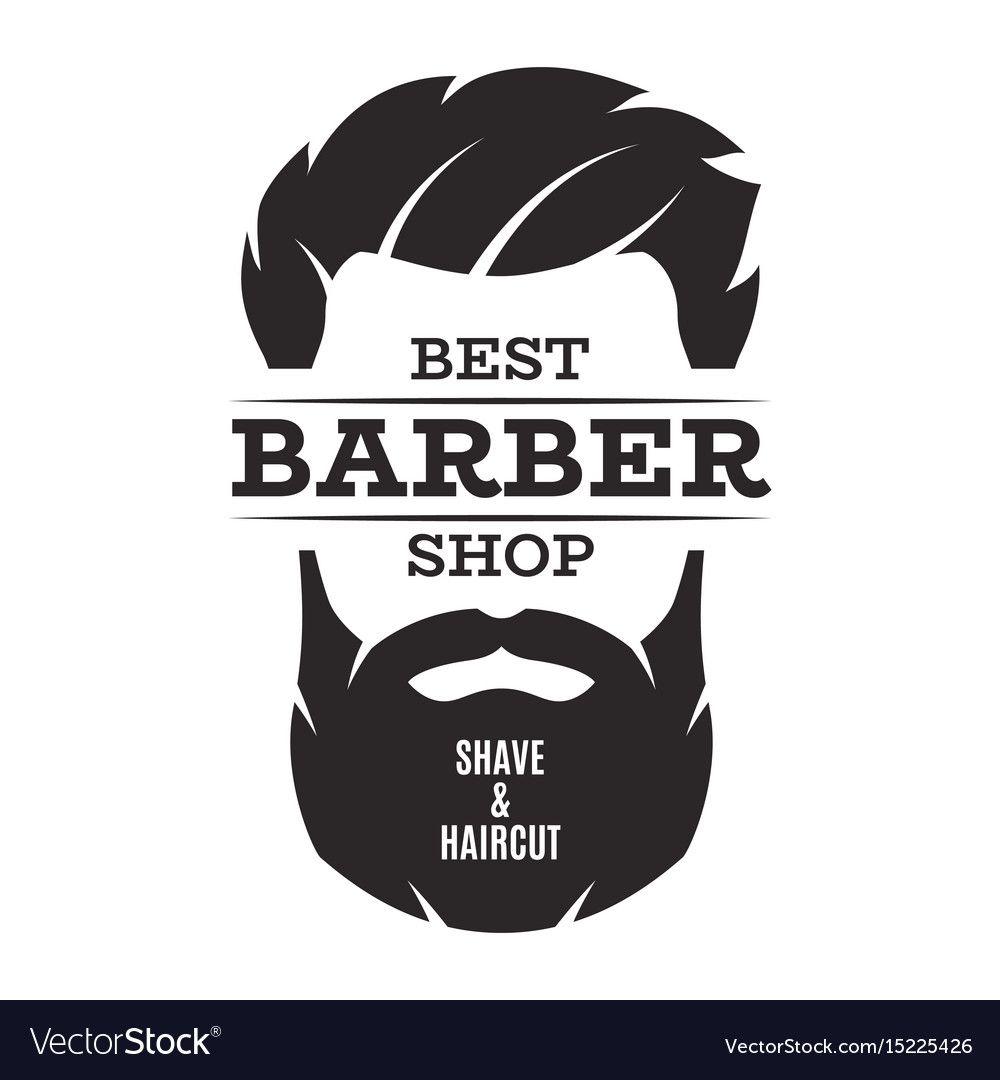 Barber Shop Isolated Vintage Label Badge Emblem Vector