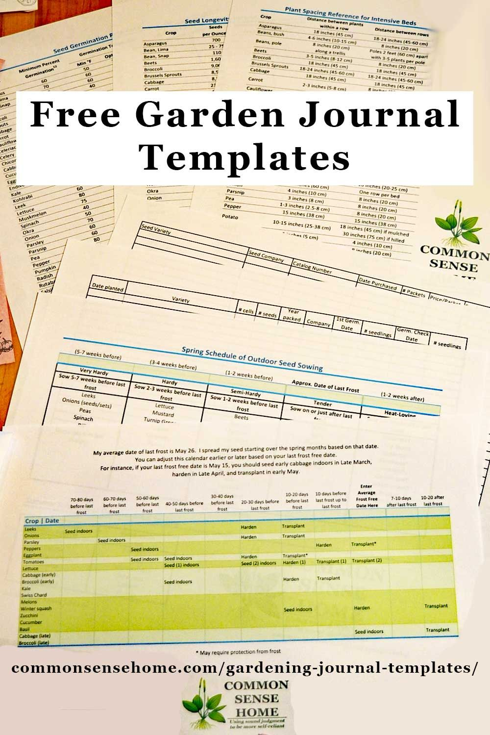Free Gardening Journal Templates And Other Garden Record Keeping Tips Garden Journal Template Garden Journal Gardening Journal Printables
