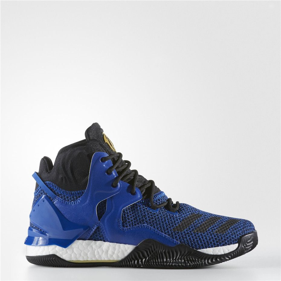 buy popular 90f0b 393df Adidas D Rose 7 Shoes (Blue Solid  Black  Metallic Gold)