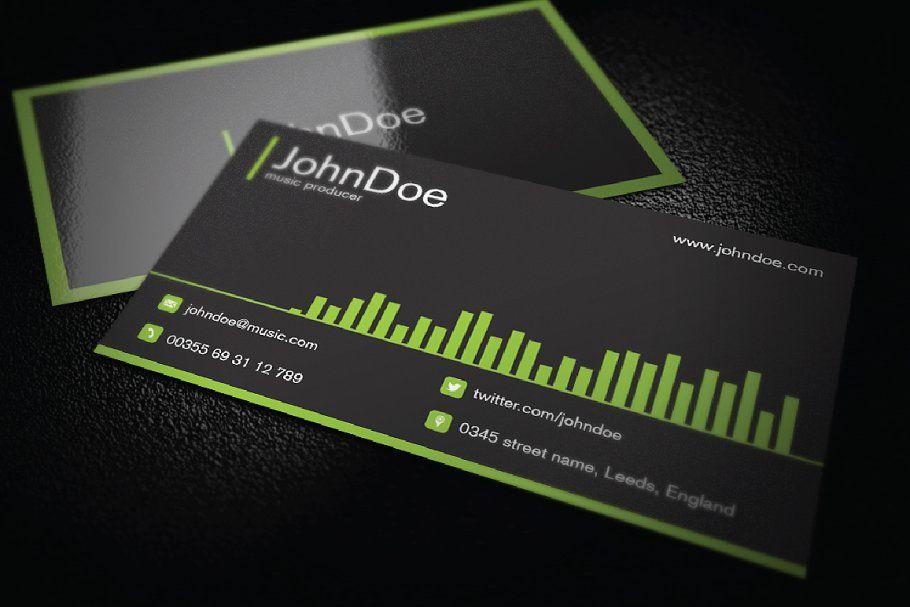 Music Business Card Music Business Cards Business Card Templates Download Business Card Template Design