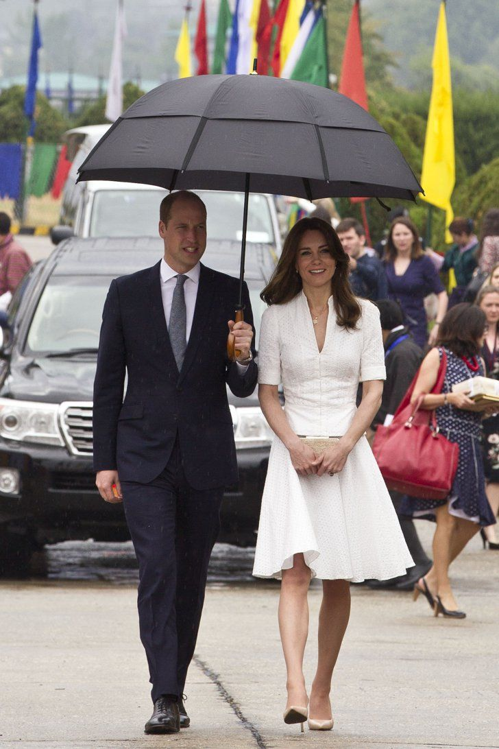 Pin for Later: The Duchess of Cambridge Wore the Perfect Outfit For a Peaceful Send Off in Bhutan Kate Wearing Alexander McQueen For Her Send Off in Bhutan
