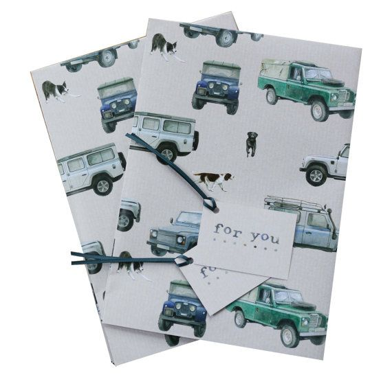 Land Rover Defender Gift Wrapping 2 Sheets With Matching Gift Etsy Land Rover Defender Land Rover Gift Wrapping