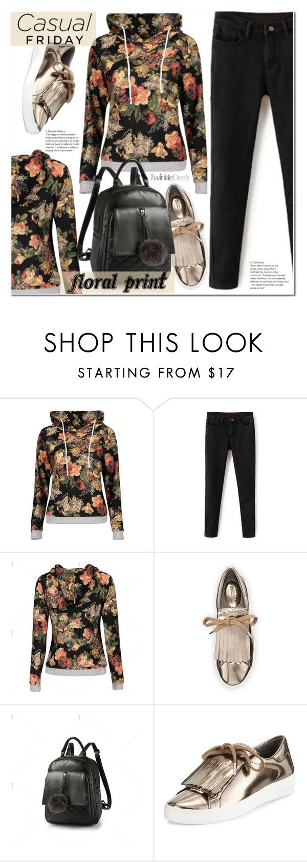 """""""Floral hoodie"""" by duma-duma ❤ liked on Polyvore featuring MICHAEL Michael Kors"""