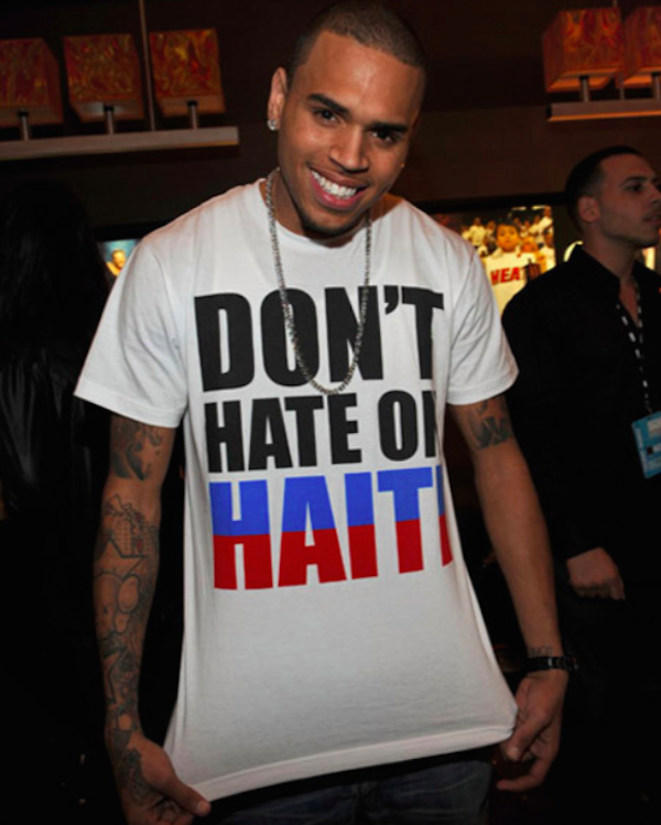 Chris Brown Celebrities In Haiti Cole Summer Haitian Flag Clothing Haiti