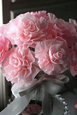 How to make pretty crepe paper flowers flowers pinterest crepe my moms grandma balas use to make these flowers it would be a nice way to include her pretty crepe paper flowers another way to create flowers great mightylinksfo
