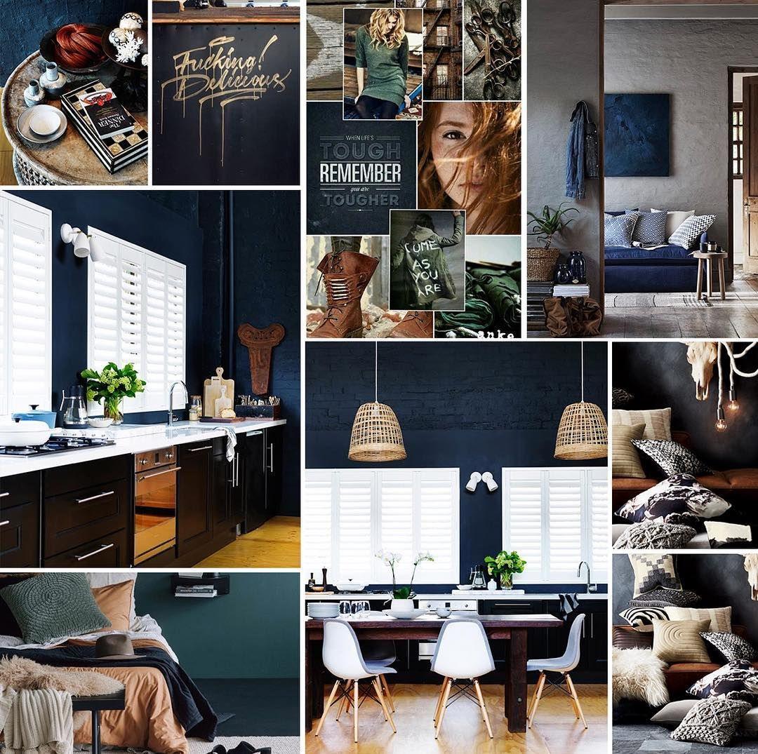 Although a mood board is visual it helps define colour ...
