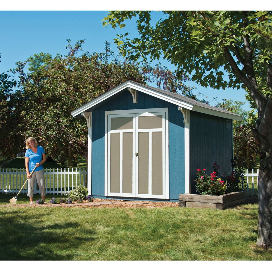 Shop Heartland Prestwick Gable Engineered Wood Storage Shed Common 8 Ft X 10 Ft Interior Dimensions Shed Wood Storage Sheds Storage Shed