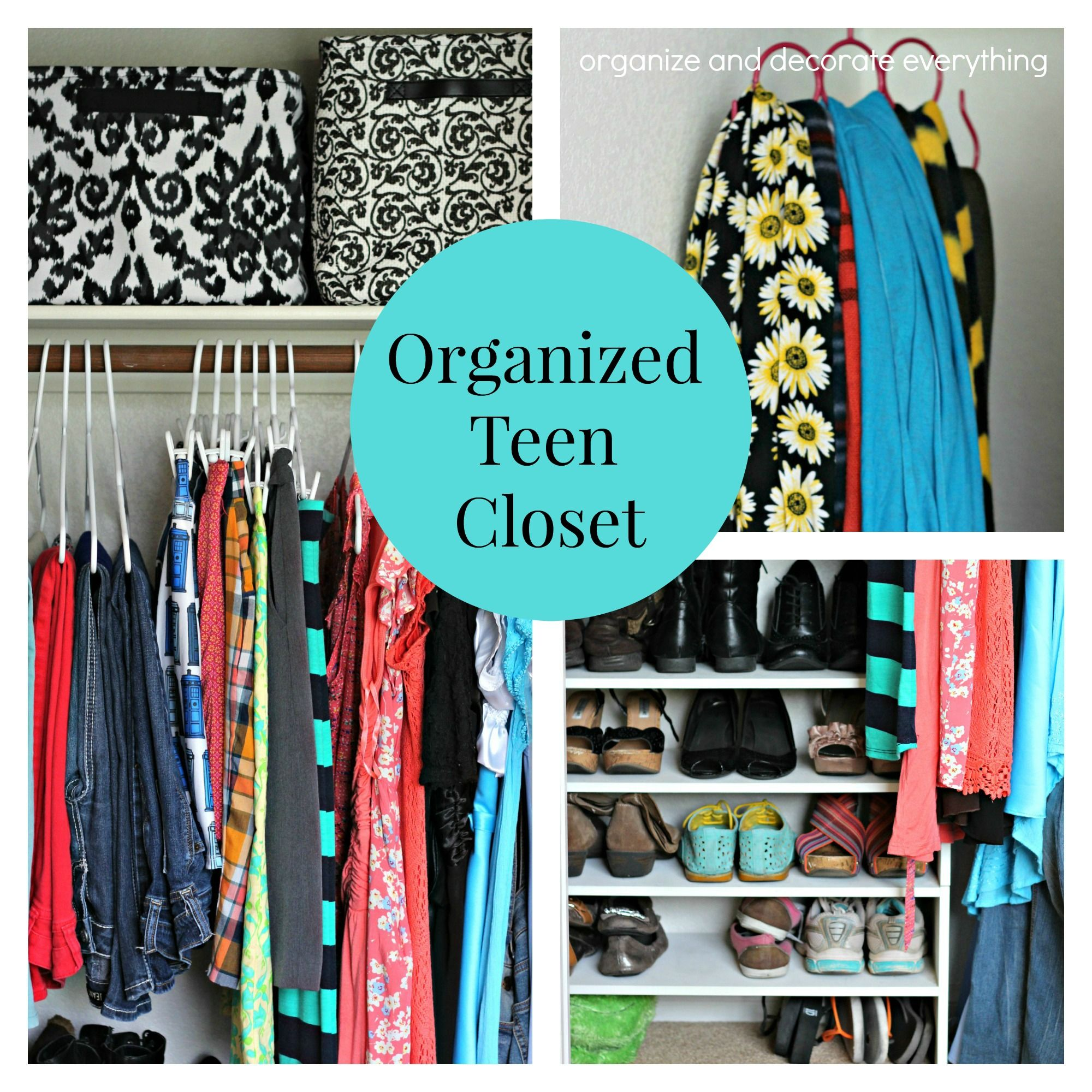 Ordinaire Organized Teen Closet   Organize And Decorate Everything Teen Closet  Organization, Bedroom Organization Diy,