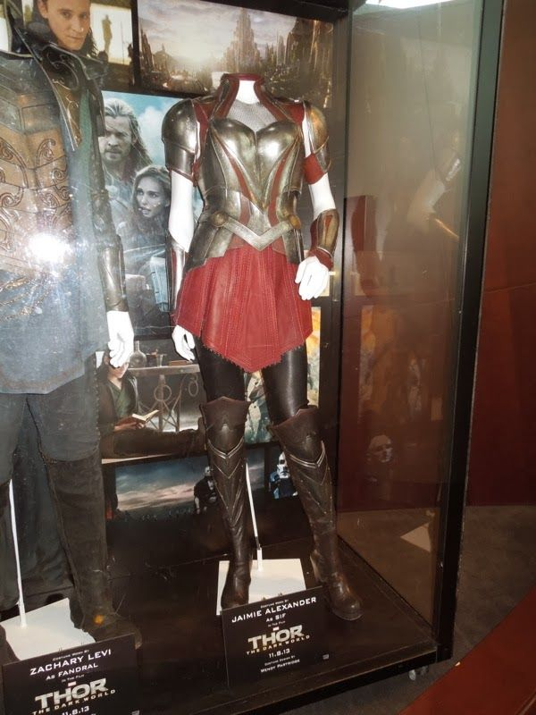 Fandral and Sif movie costumes from Thor The Dark World on display.  sc 1 st  Pinterest & Fandral and Sif movie costumes from Thor: The Dark World on display ...