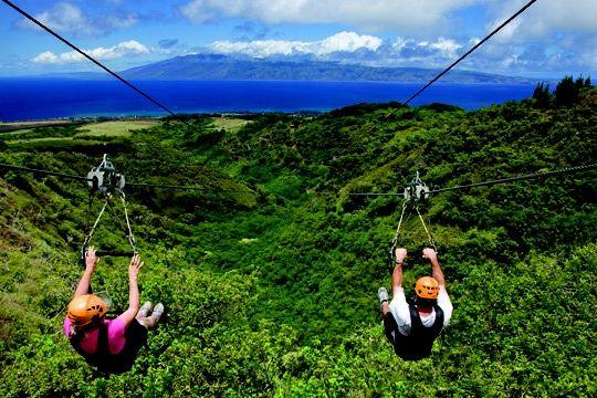 Zip Lining In Hawaii Maui