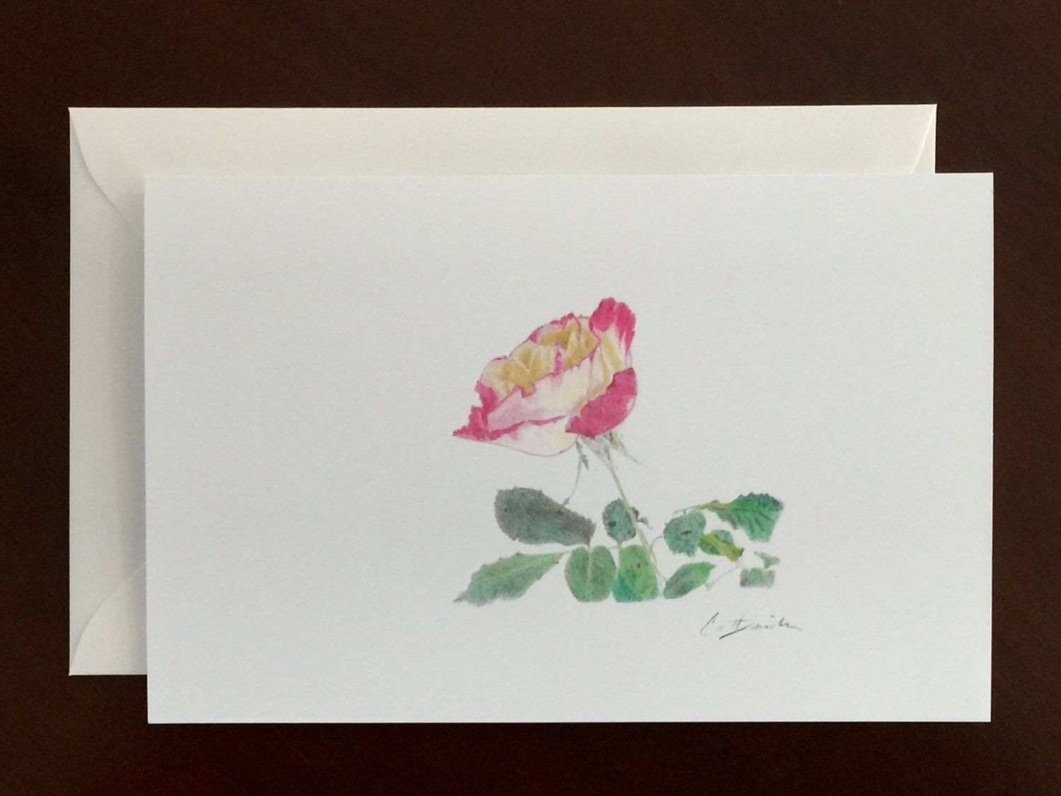 A Rose Pencil Drawing Set of Art Greeting Cards Easter ...