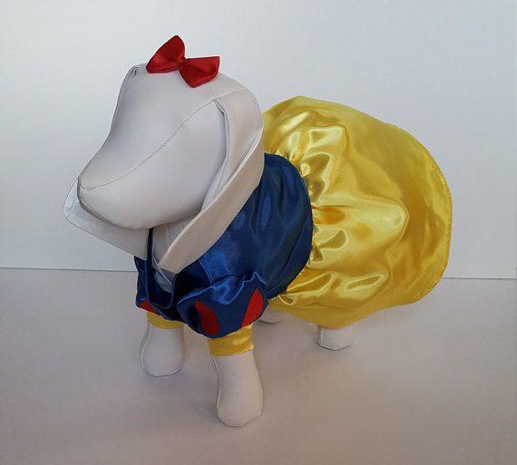Snow White Dog Costume, Dog Snow White Halloween Costume,Snow White Puppy Costume, Puppy Snow White Costume, Snow White Pet Costume #snowwhite