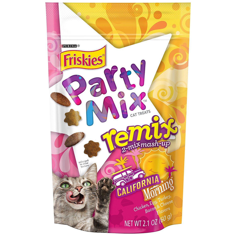 Purina Friskies Party Mix Remix California Morning Cat Treats 2 1 oz