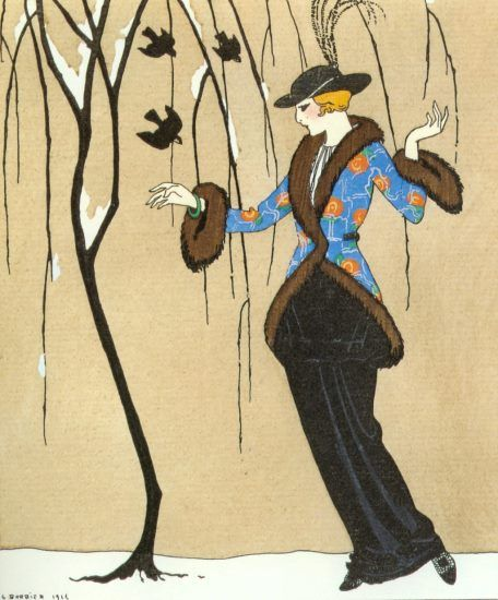 George Barbier. Beauty and the Sparrow
