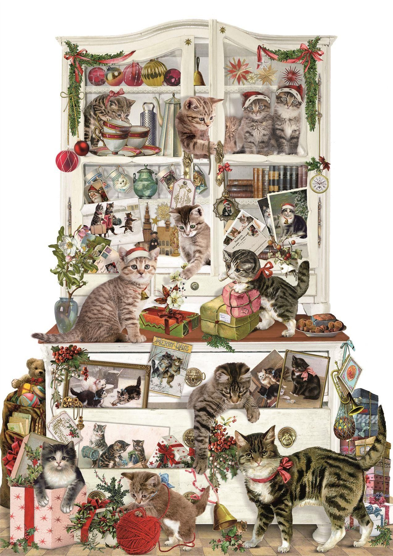 Deluxe Traditional Card Advent Calendar Mischievous
