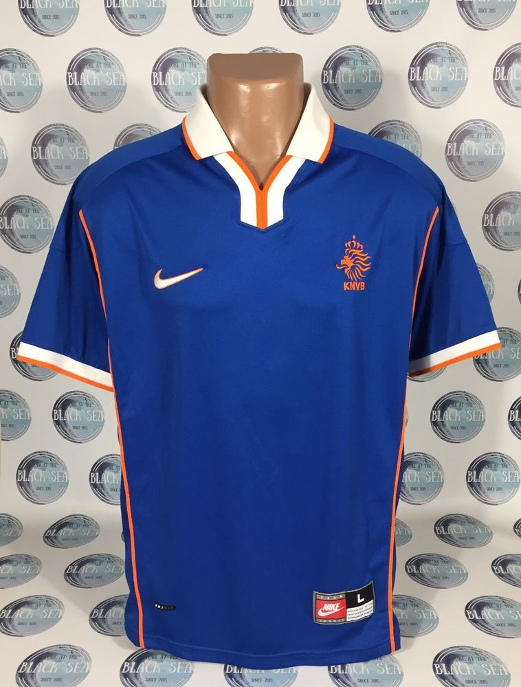 c43c5c740 NETHERLANDS NATIONAL TEAM 1998 2000 AWAY FOOTBALL SOCCER SHIRT JERSEY  TRIKOT L (eBay Link)