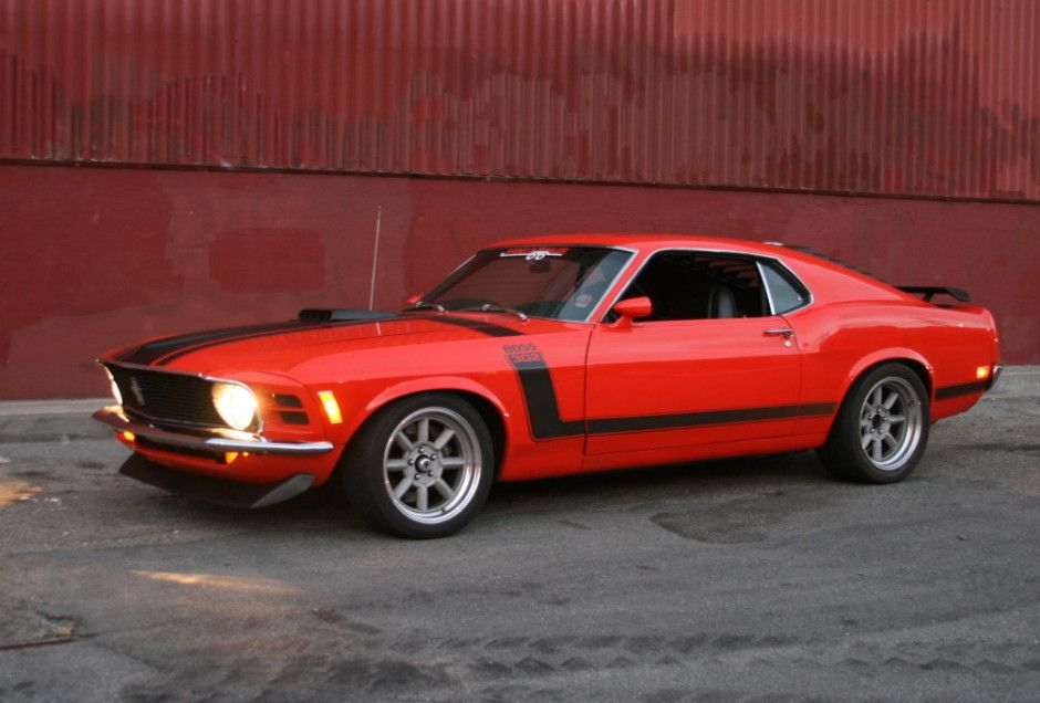 1970 Ford Mustang Boss 302 For Sale Headlights Orange  Automotive