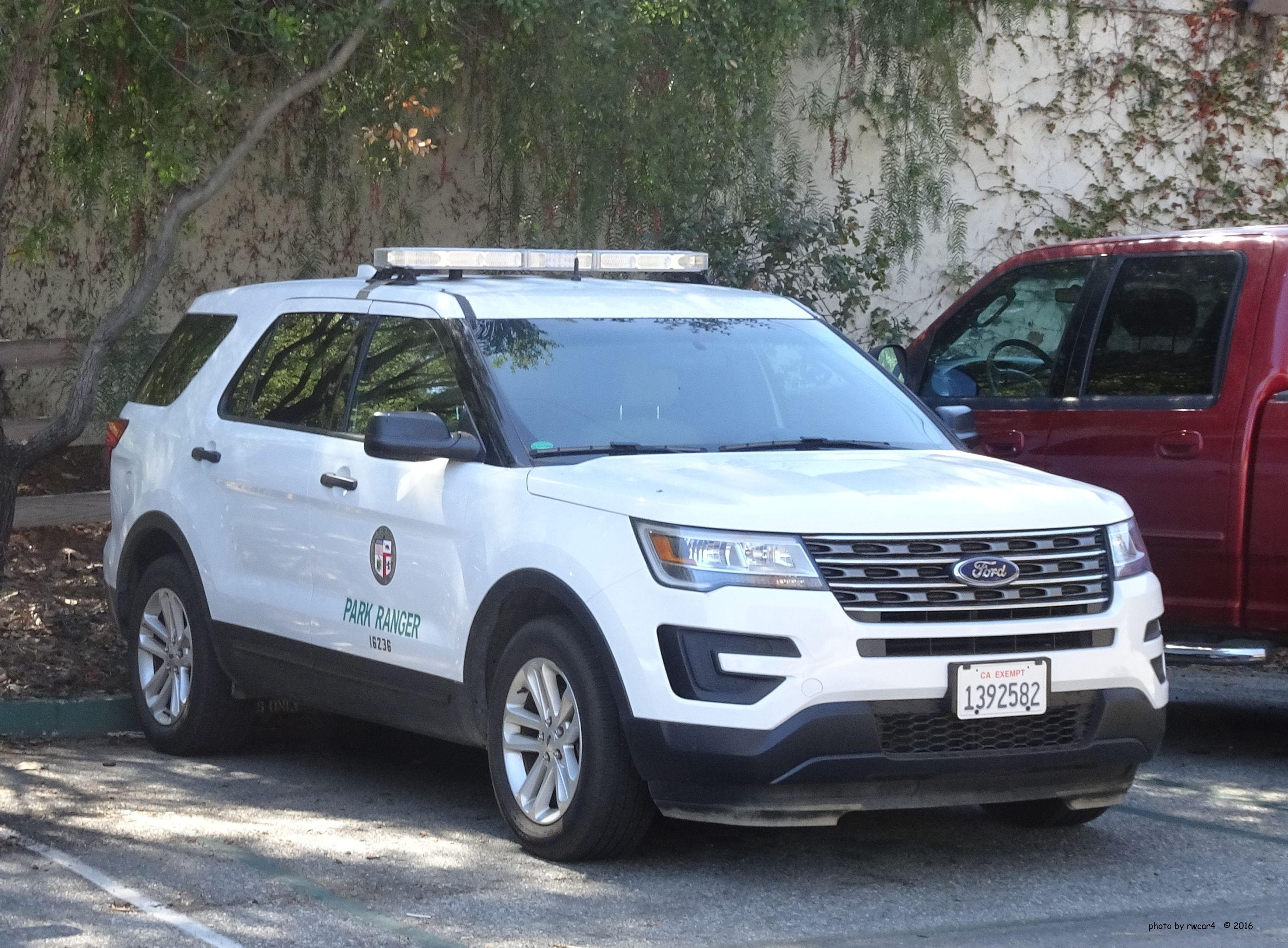 Public Safety Equipment Los Angeles City Park Ranger Ford Interceptor Utility Vehicle Emergency Vehicles Ford Police Police Cars