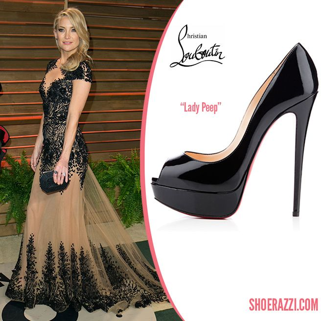 los angeles 4d293 7a7f6 Kate Hudson in Christian Louboutin Black Patent Leather Lady ...