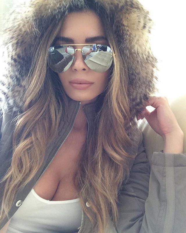 b7609d1fb09a Lipsy London Coat   Céline Sunglasses worn by Jasmine Tosh ...